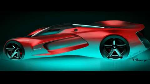"The high-performance SRT team of Fiat Chrysler Automobiles developed a new supercar for the ""Gran Turismo 6"" video game. The SRT Tomahawk Vision Gran Turismo concept is a single-seat hybrid powertrain supercar."