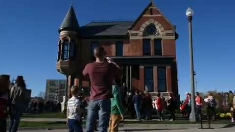 The Ransom Gillis house, renovated by HGTV's Nicole Curtis, was open to the public for an afternoon.
