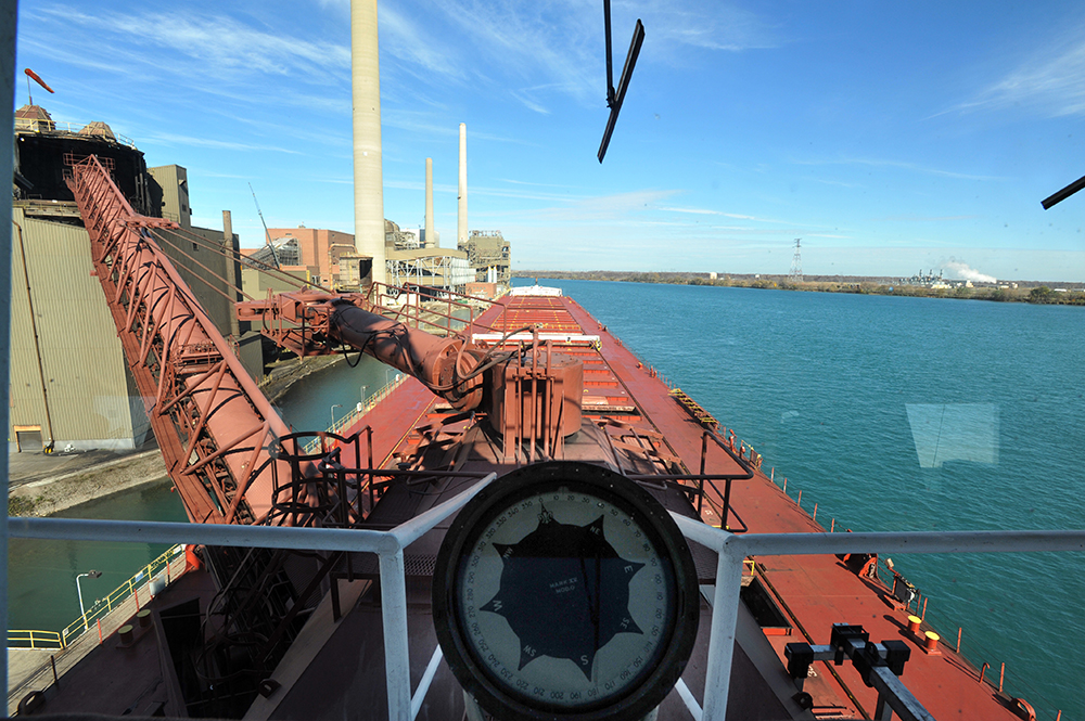 Captain Brad Newland talks about safety and technology on Great Lakes freighters
