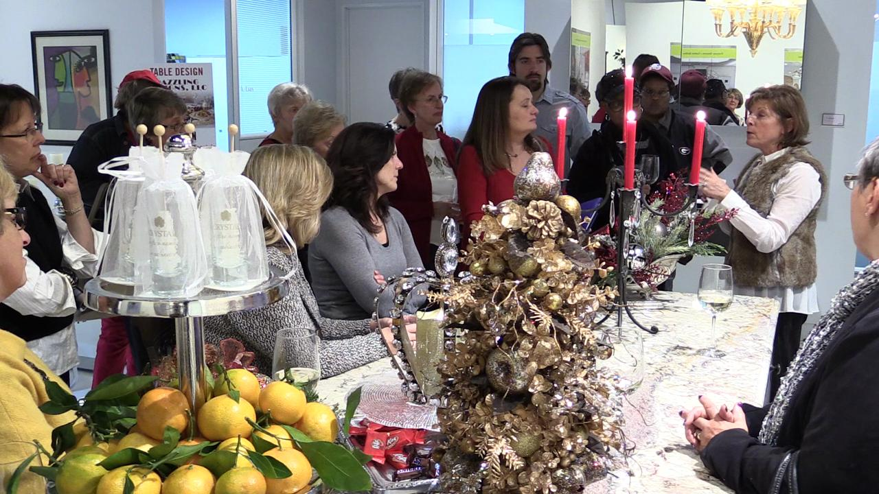 Designer Donna Brown of Dazzling Designs in Northville gives ideas for decorating your holiday table The Detroit News' Dish and Design event, Holidays with Homestyle.