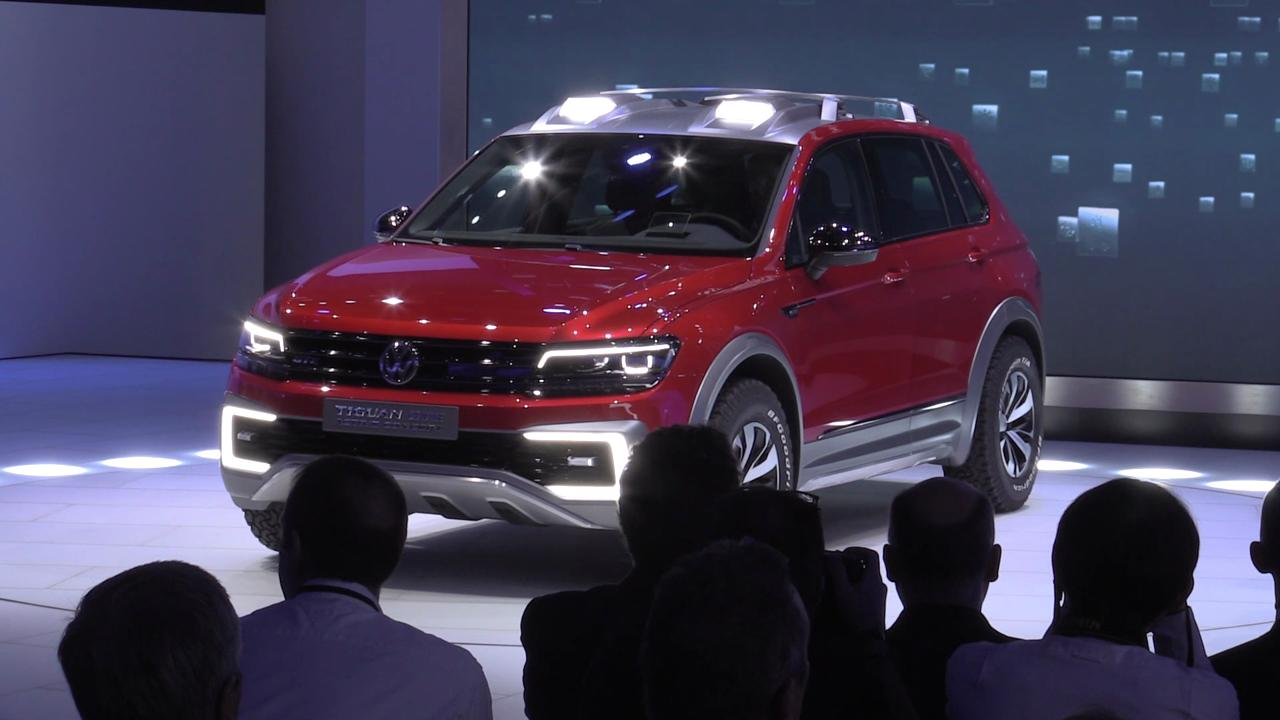 VW Americas President and CEO Michael Horn introduces new Volkswagen Tiguan GTE Active Concept.