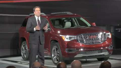 GM President Mark Reuss discusses innovative features on GMC's redesigned, lighter crossover SUV.