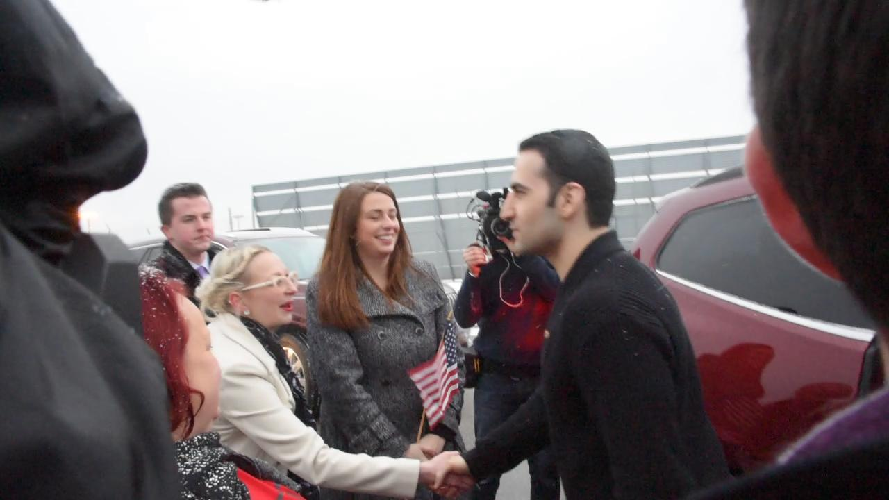 Amir Hekmati arrives home to Flint