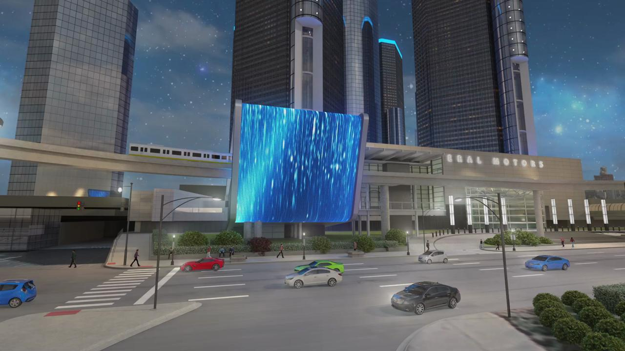 General Motors Co. said Friday it is planning a 120,000-square-foot renovation at its Renaissance Center headquarters, part of which will feature a 70 foot-by-80-foot LED screen wrapped over the People Mover stop at the building.