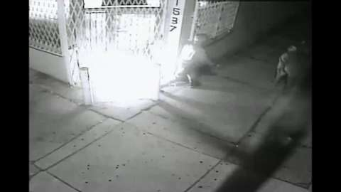 Arson caught on surveillance video