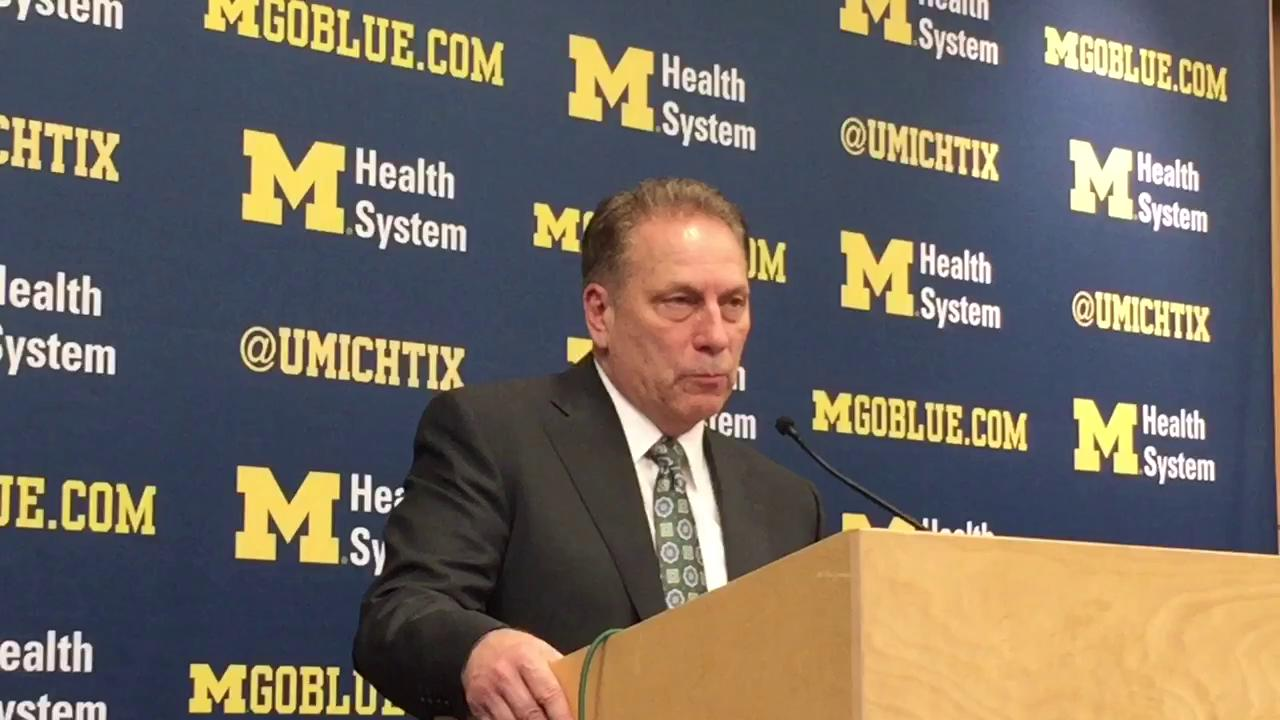 Tom Izzo on MSU win over UM