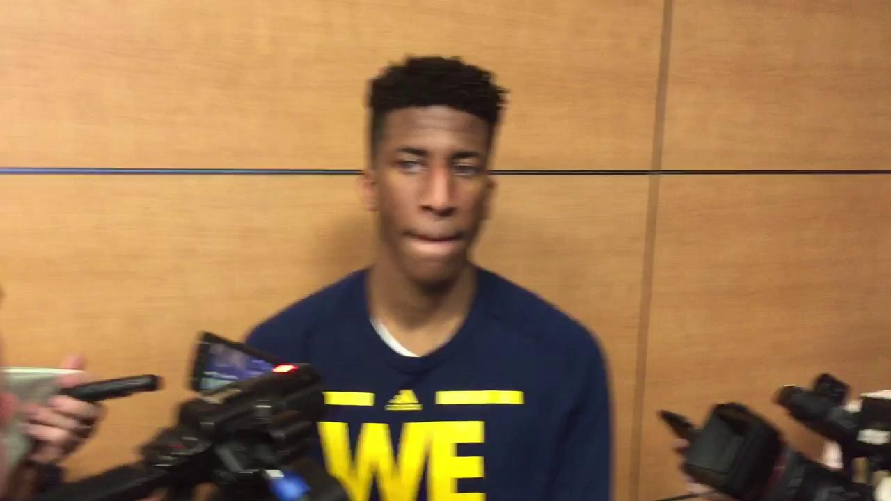 UM's Aubrey Dawkins: MSU 'just another game'