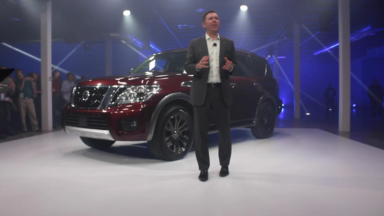 Nissan unveils new flagship Armada SUV on eve of  the Chicago Auto Show.
