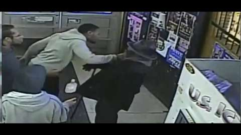 Surveillance video  excerpts of liquor store beating