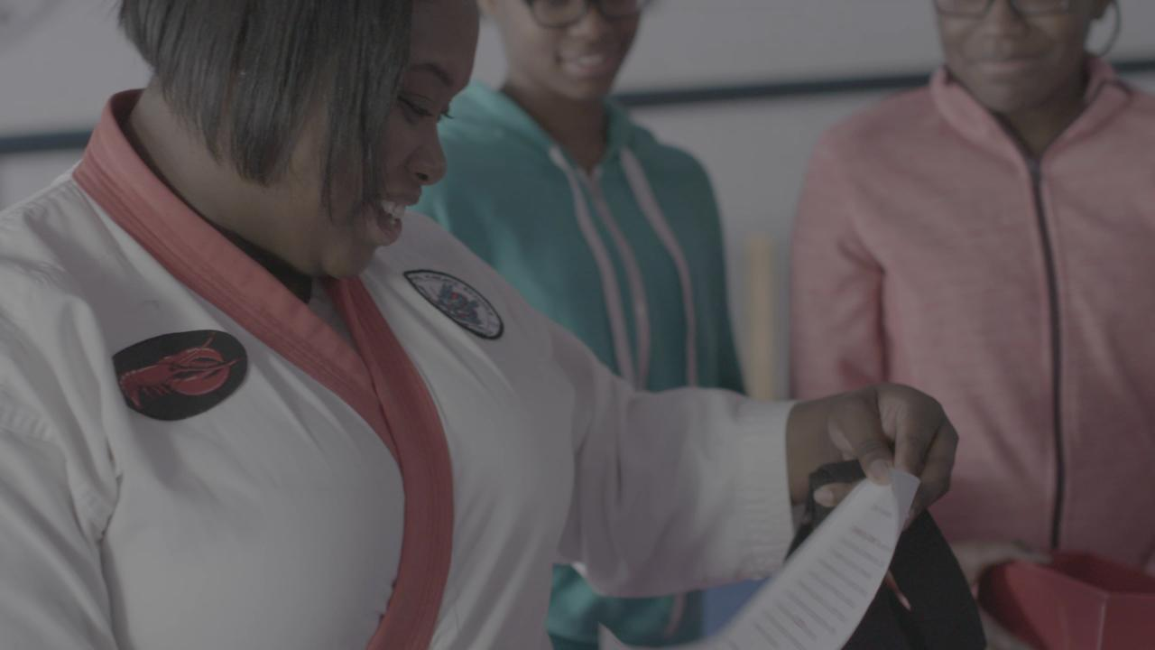 Antwanette Bills of Lincoln Park earned $2,000 and a heck of a seafood meal for her family courtesy of Red Lobster when she explained how she crushes adversity.