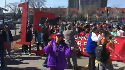 Protesters call for $15  an hour at McDonald's