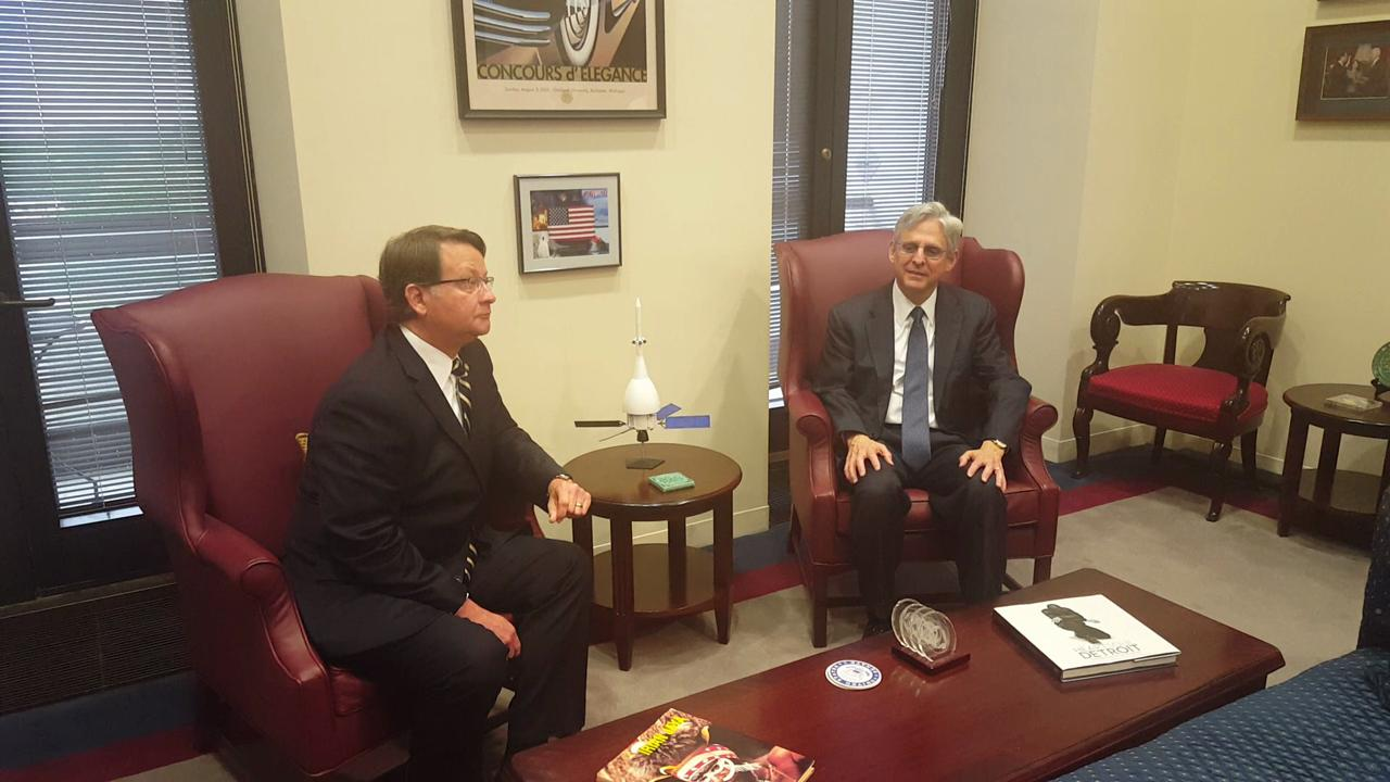 Sen. Peters meets with Judge Merrick Garland