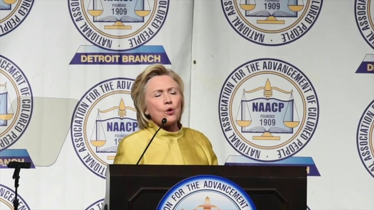 Hillary Clinton's speech to the NAACP Fight For Freedom Fund Dinner
