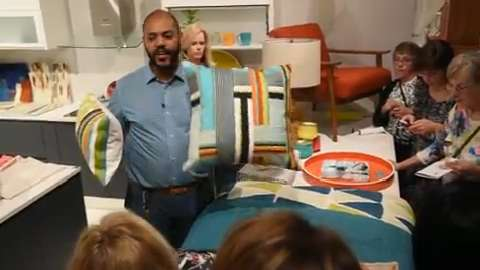 West Elm general manager Wyndal Chapital discusses designing with color during the Dish and Design event.