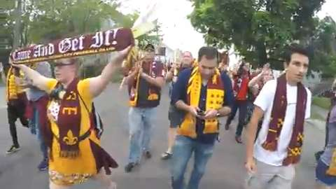 Detroit City FC supporters march to new stadium
