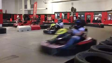 Ahead of the Chevrolet Detroit Belle Isle Grand Prix, members of the media honor former Detroit News auto critic Doug Guthrie, who passed away suddenly in 2013, with a race at Kart2Kart in Sterling Heights.