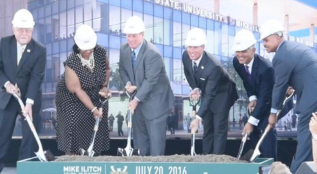 Groundbreaking for the Mike Ilitch School of Business
