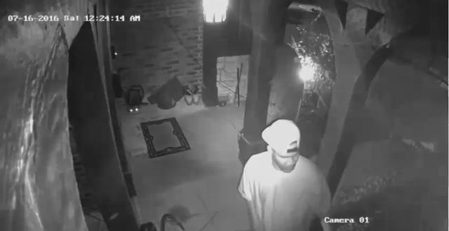 Surveillance video of breaking and entering