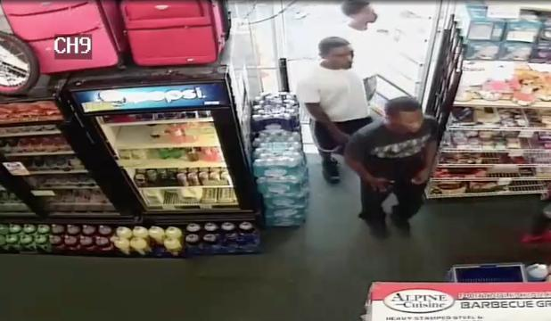 Surveillance video of suspect in fatal shooting