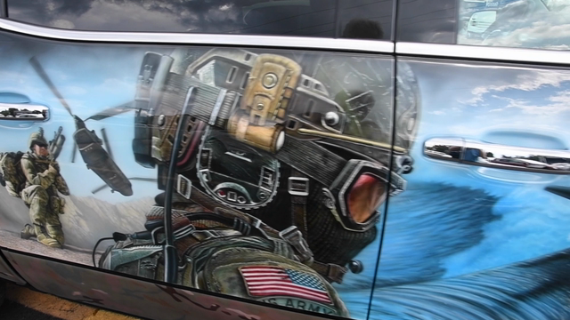 The GMC Sierra All-Terrain Commemorative Edition vehicle honors our past, present and fallen heroes at the Woodward Dream Cruise