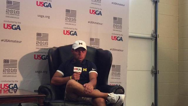 Emotions come out for UM's Nick Carlson after U.S. Amateur run ends
