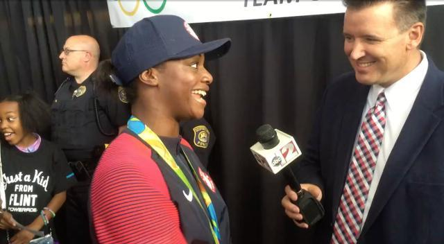 Olympic gold medalist Claressa Shields returns to Flint