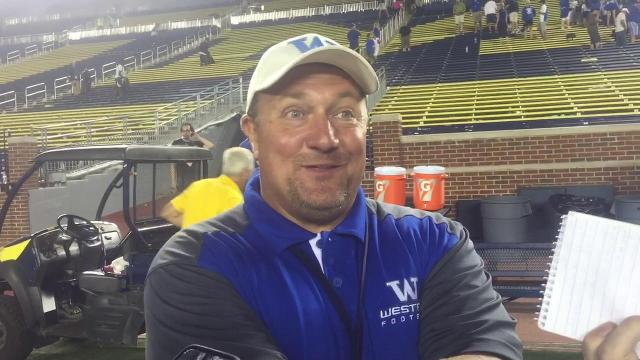 Walled Lake Western coach Mike Zdebski