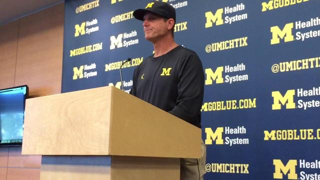 Harbaugh on Bredeson