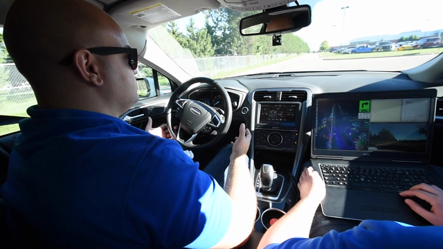 Take a ride inside an autonomous Ford... Autonomous vehicle service for Ford employees will be available on Ford's Dearborn campus in 2018, according to CEO Mark Fields.