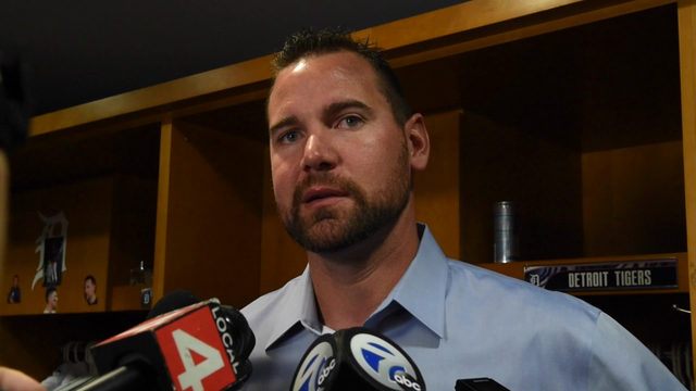 """Manager Brad Ausmus, pitcher Mike Pelfrey and catcher James McCann talk about the decision to pitch to the Twins' Brian Dozier. """"Not a good home stand,"""" Ausmus sums up."""