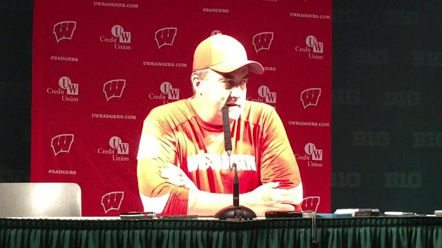 Wisconsin's Paul Chryst on play of freshman QB