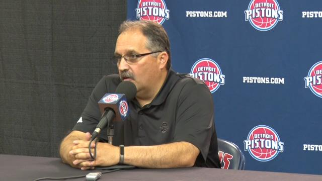 Stan Van Gundy at Pistons media day