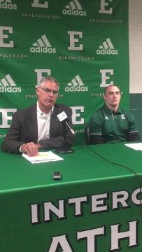 EMU football news conference