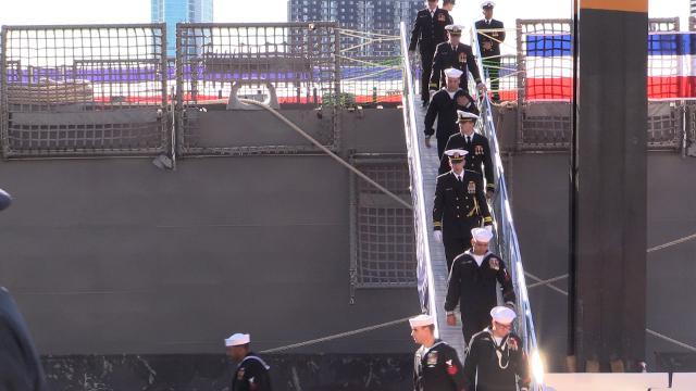 Thousands show for USS Detroit commissioning