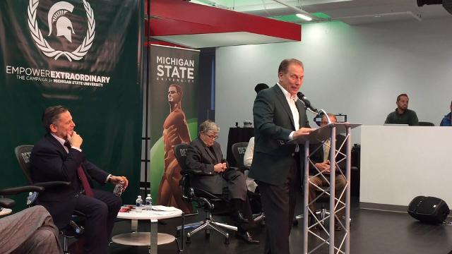 Tom Izzo on Dan Gilbert's $15 Million gift to MSU