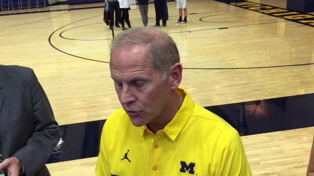 UM's John Beilein on team's health, first practice
