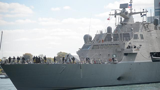USS Detroit arrives at the Motor City