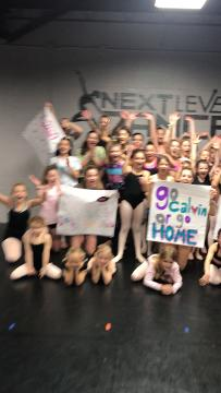 """A video message from students at Next Level Dance Center in Troy, who are wishing Calvin Johnson and Lindsay Arnold good luck in the """"Dancing with the Stars"""" finals. They plan to send him this video"""