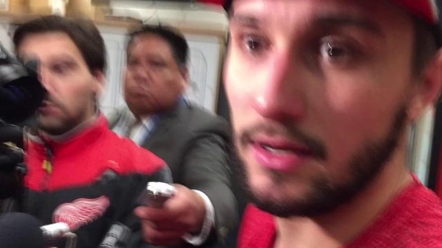 Petr Mrazek on the Wings' 4-0 record in shootouts