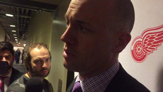 Red Wings coach Jeff Blashill on loss to the Penguins