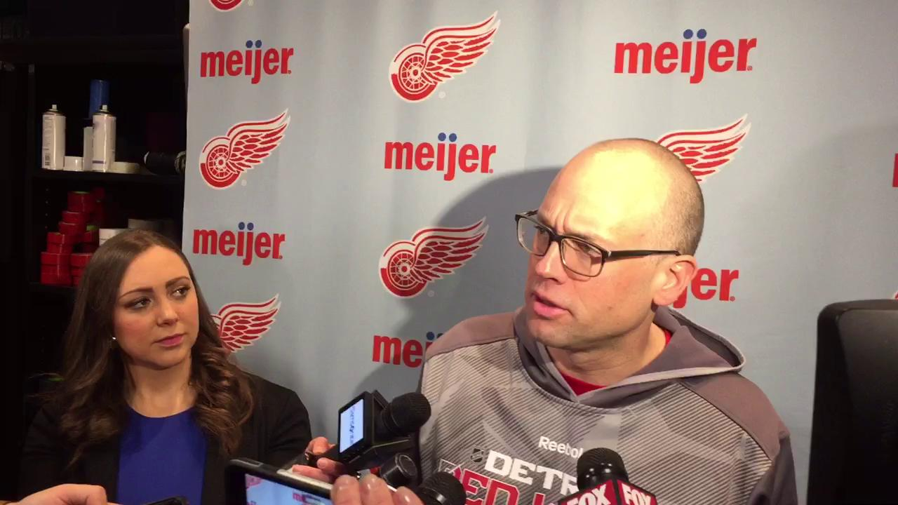 Coach Jeff Blashill on what has keyed the Red Wings' win streak.