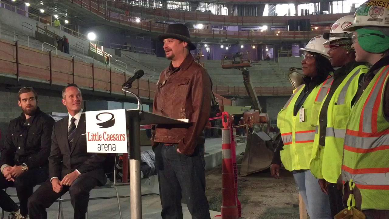 Kid Rock will open Little Caesars Arena with a four-show run, he announced Thursday.