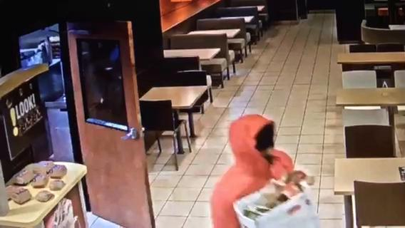 The suspect's every move after entering the restaurant in the 9800 block of Grand River at about 7:15 p.m. was recorded since the business participates in the city's Project Green Light program.