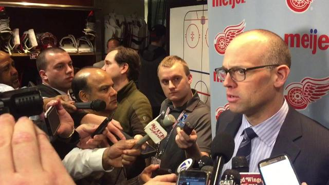 Jeff Blashill on Wings' OT loss to Rangers