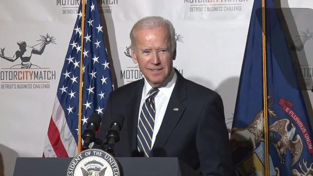 Biden admires Detroit, 'an iconic city'