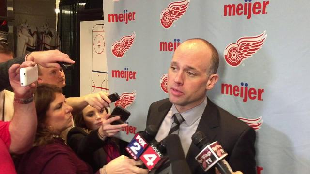 Wings coach Jeff Blashill on his team's better compete level