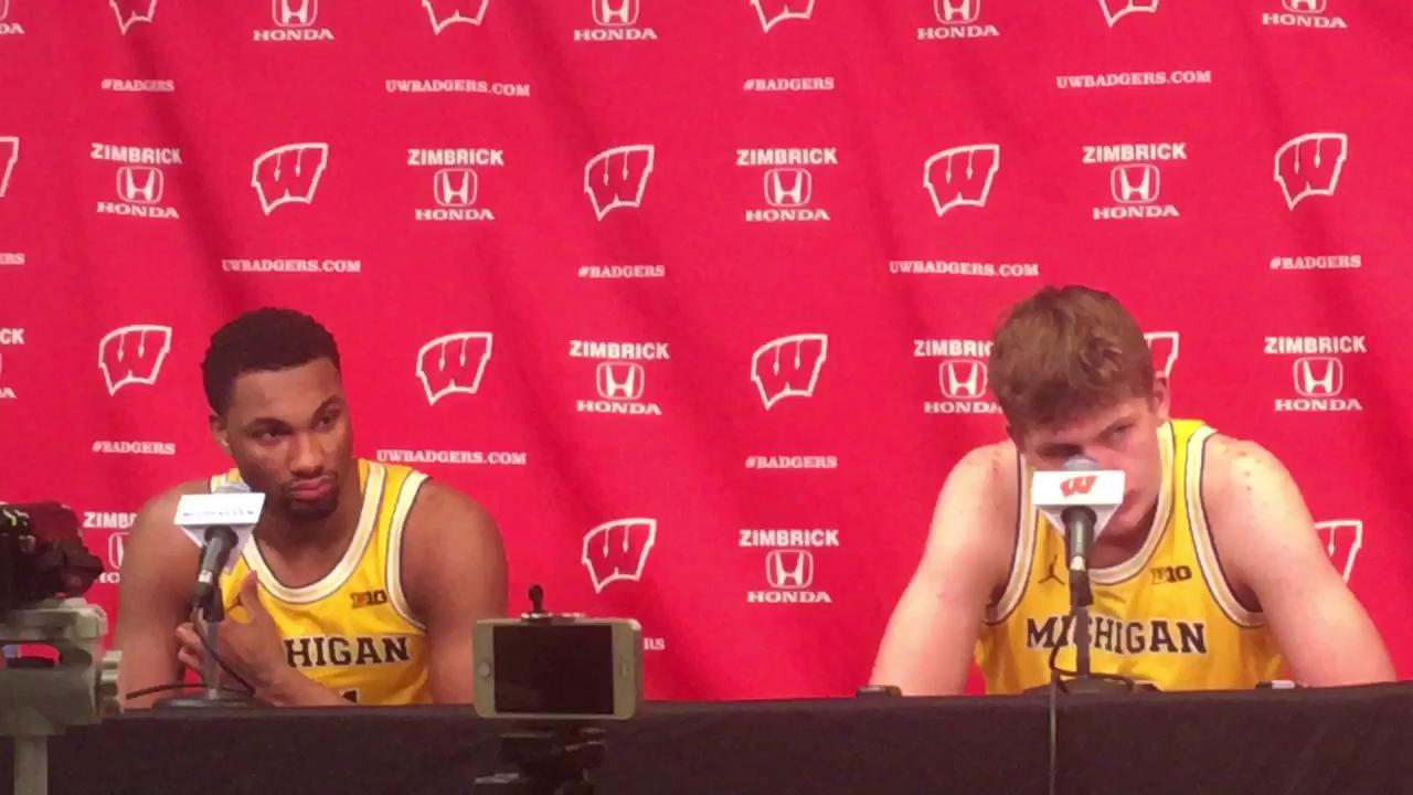 Senior forward and sophomore big man talk about what hampered Michigan in Tuesday's 68-64 loss at Wisconsin.