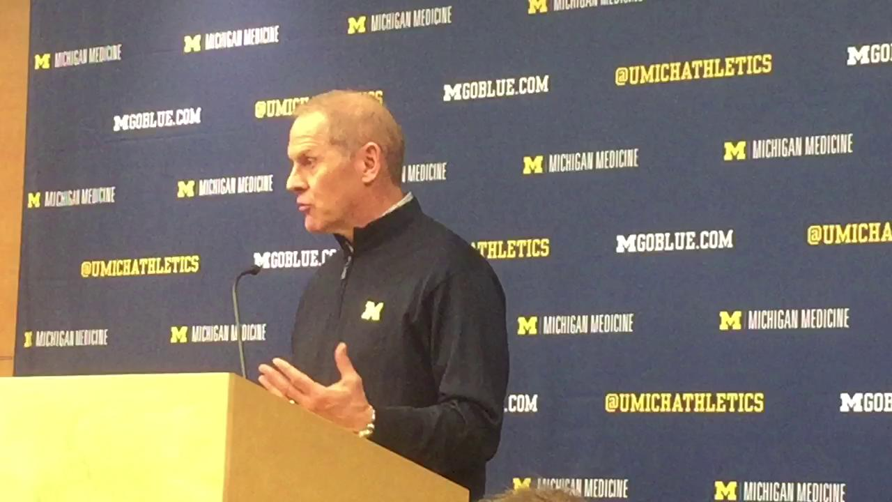 Michigan coach John Beilein talks about some of the factors that have contributed to the outcomes of the UM-MSU games in recent seasons.