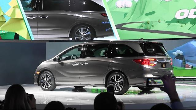 Honda unveils the latest model of its popular minivan at the North American International Auto Show.