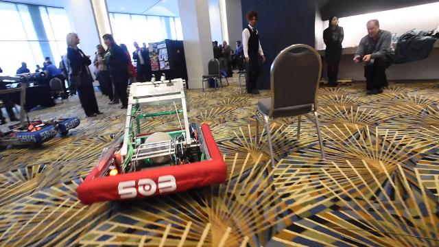 The robotics competition will hold its global championships in Detroit for three years starting in 2018.
